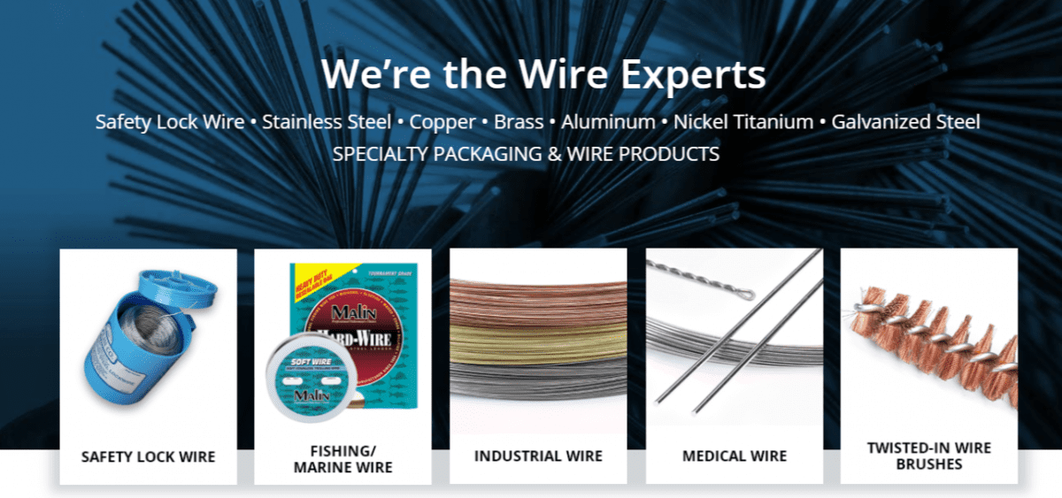Malin Co. Wire Products | Safety Wire / Lock Wire