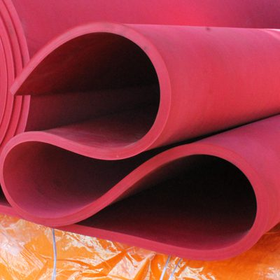 A roll of Wenco MEX's red rubber lining.