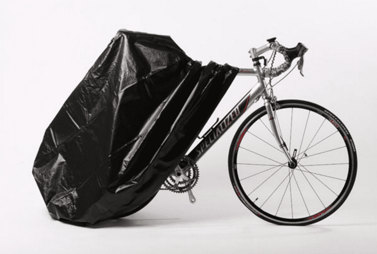 A bike with a Zerust bike cover.