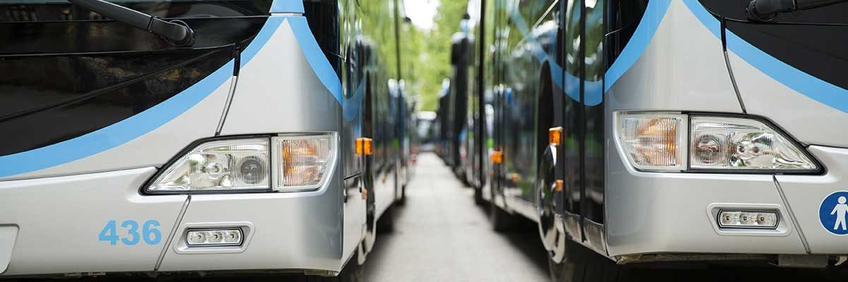 A series of motorcoaches that can be easily operated by students of motorcoach driver training courses.