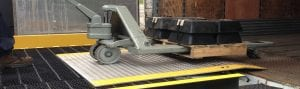industrial dock plate and cart