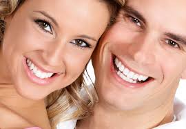 teeth whitening smiling models