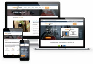 eCommerce website design examples from ADVAN displayed on desktop, laptop, and mobile.